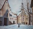 Alte Kirche im Schneekleid